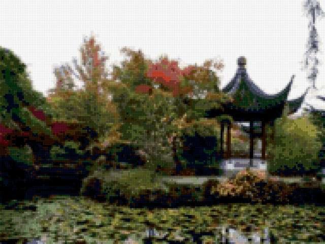 Китайский сад, китайский