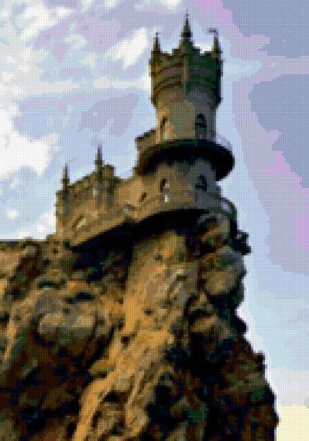 """Замок """"Ласточкино Гнездо""""."""