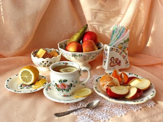 Чай с лимоном, оригинал