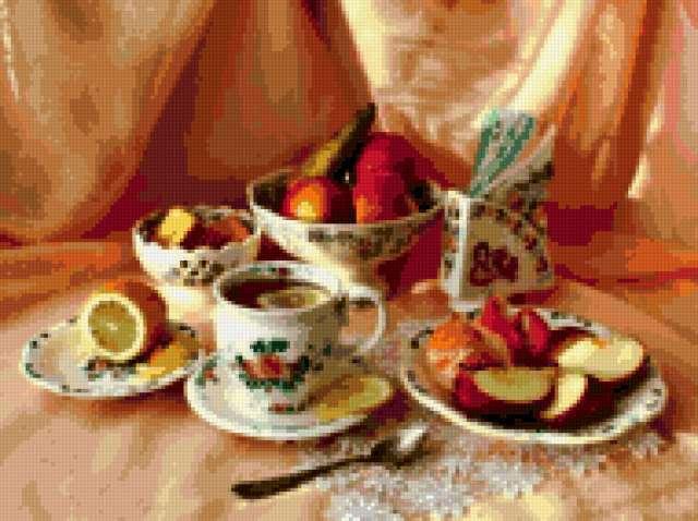 Чай с лимоном, предпросмотр