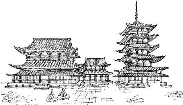 Китайская пагода, Восток
