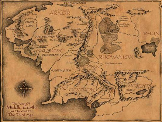 Карта Средиземья, оригинал
