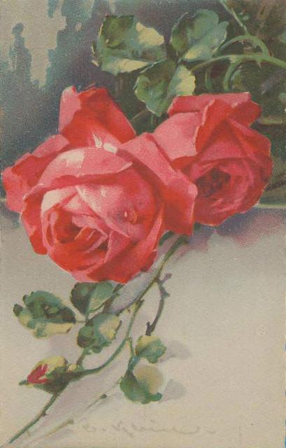 Розы красные, оригинал