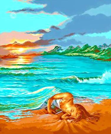 Сон на пляже, оригинал