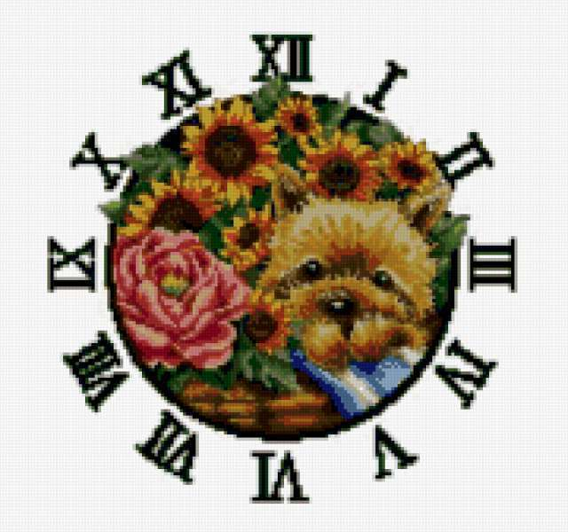 Часы с цветами, часы,