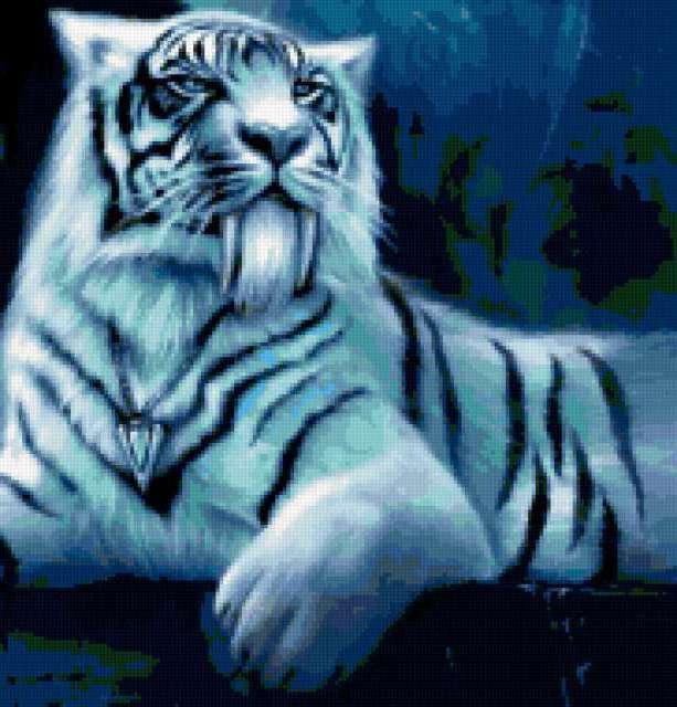 Белый тигр рррр.