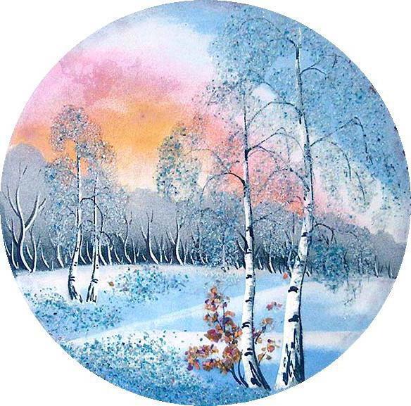 Зима Панно , оригинал