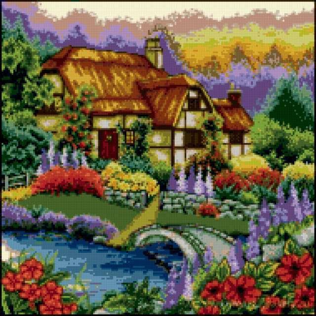 Дом, милый дом, природа, река,