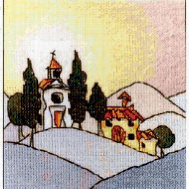 Миниатюрные Тосканские домики