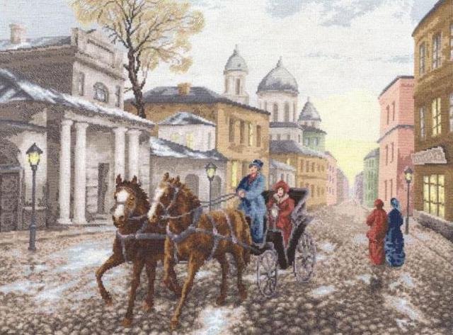 Московская улочка, оригинал