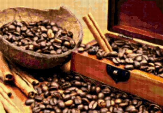 Шкатулка с кофейными зернами,