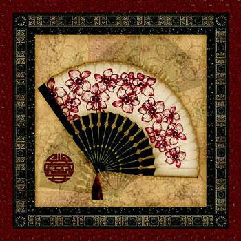 Китайский веер, веер, декор,