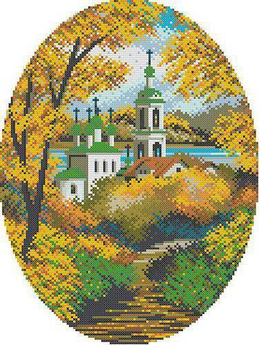 Церковь осенью, оригинал