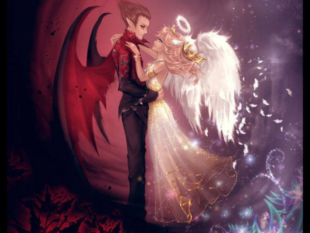 Ангел и демон, оригинал