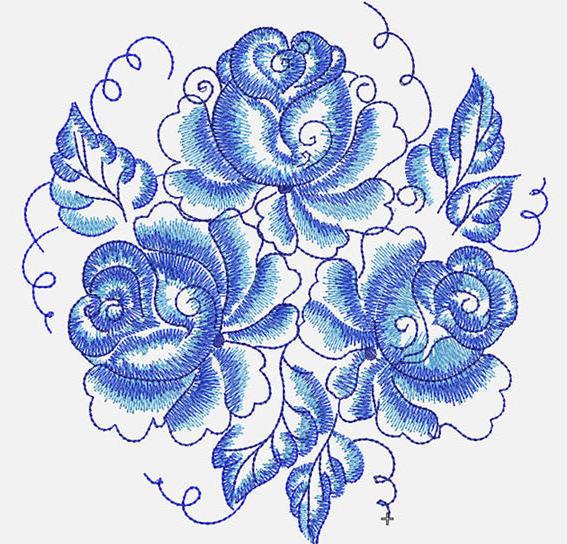 Синие розы, оригинал