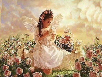 Маленький ангел в саду)),