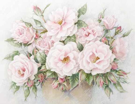 Нежные розы, розанчики