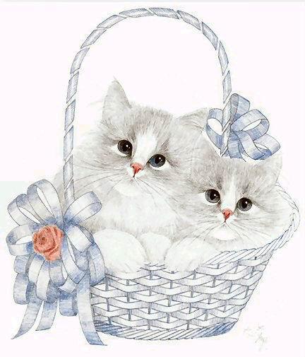 Котята в корзинке, оригинал