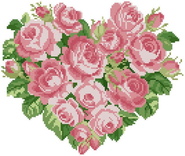 Сердце из роз 4, цветы, букет