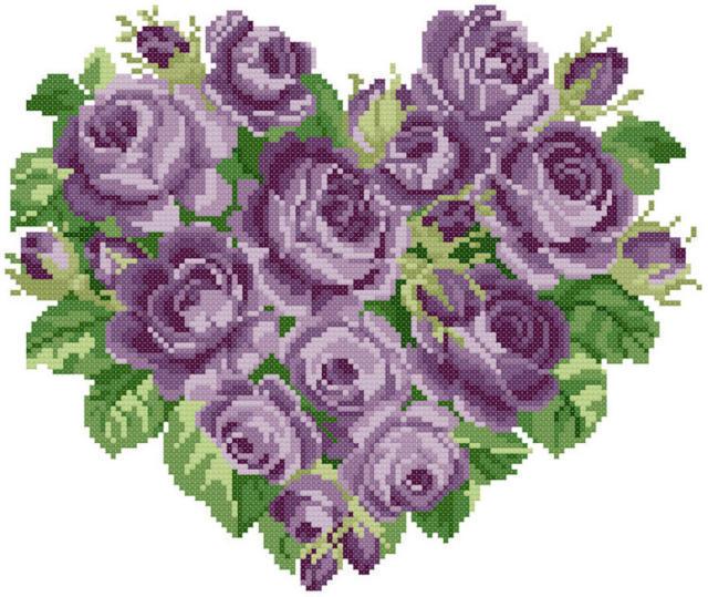 Сердце из роз 6, цветы, букет