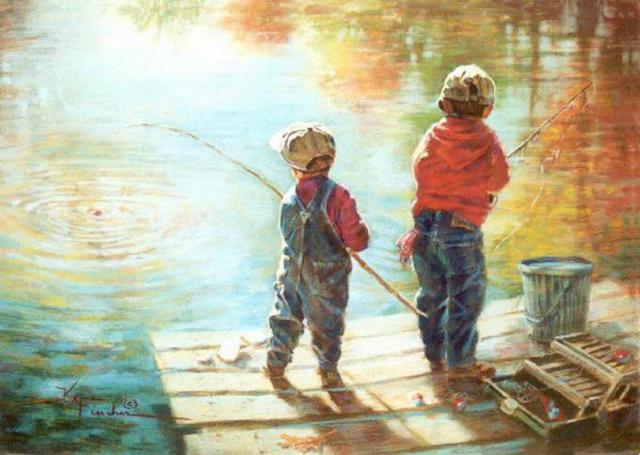 Двое на рыбалке., оригинал