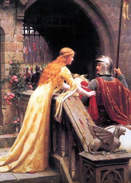 Рыцарь, рыцарь, девушка, люди,