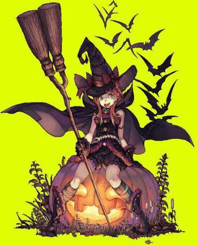 Ведьмочка на тыкве, оригинал