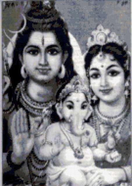 Шива, Ганеша, Парвати