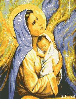 Божья матерь и иисус, оригинал