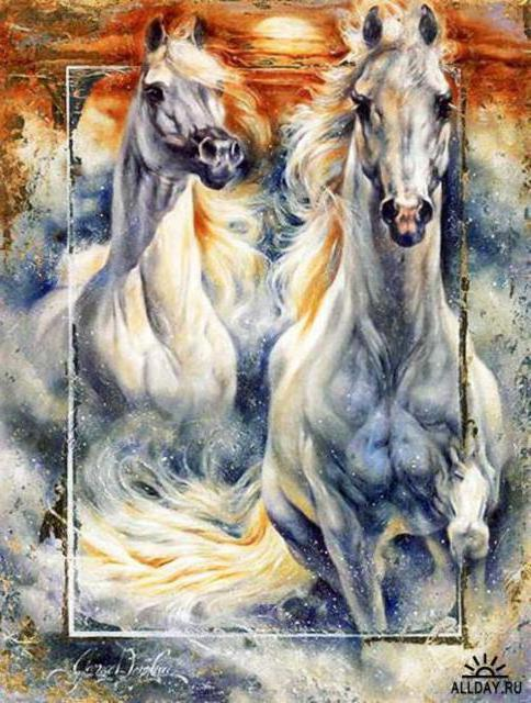 Cua, картины, кони, лошади