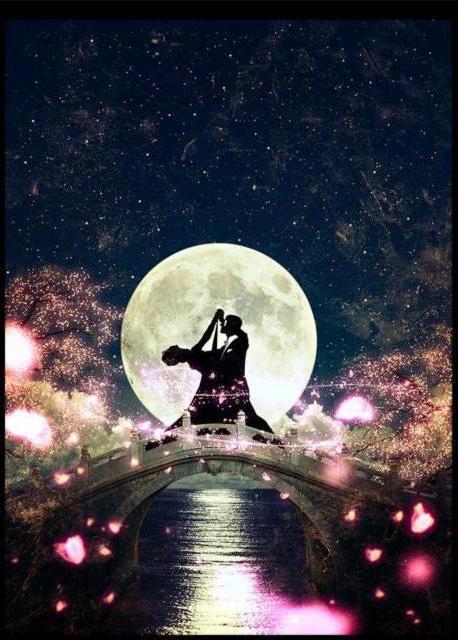 Лунный вальс, танец, луна,