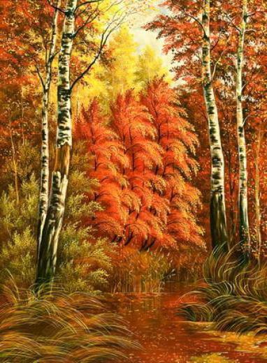 Осень золотая, природа, пейзаж