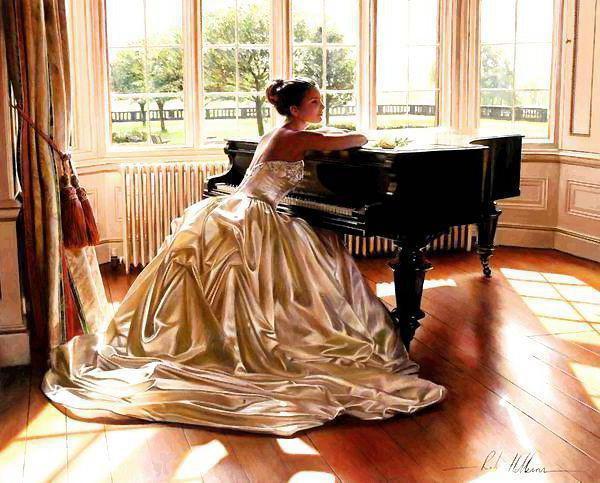 Девушка и пианино, оригинал