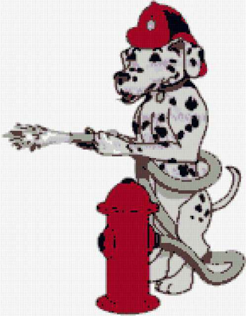 Пожарник вышивка схема