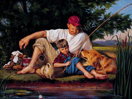 мальчик, собака, река,