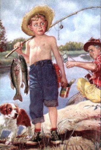 Юный рыбачок, оригинал