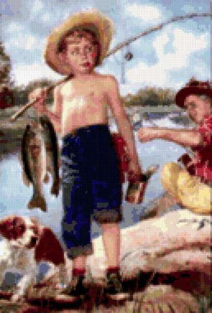 Юный рыбачок, предпросмотр