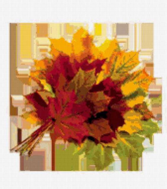 Букет из листьев, осень,