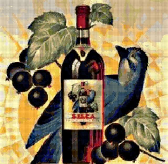 Декор. Вино из смородины,