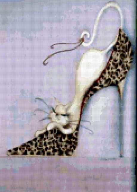 Кошка в туфельке, предпросмотр