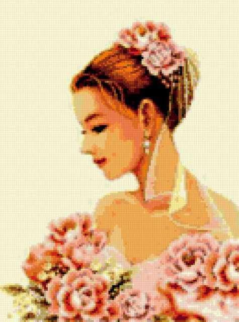 Невеста в розовом, свадьба,