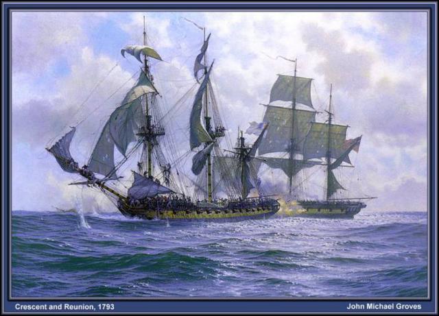 Схемы вышивки моря и кораблей