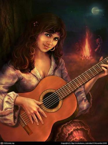 Цыганка с гитарой, оригинал