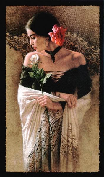 Девушка с розой, оригинал