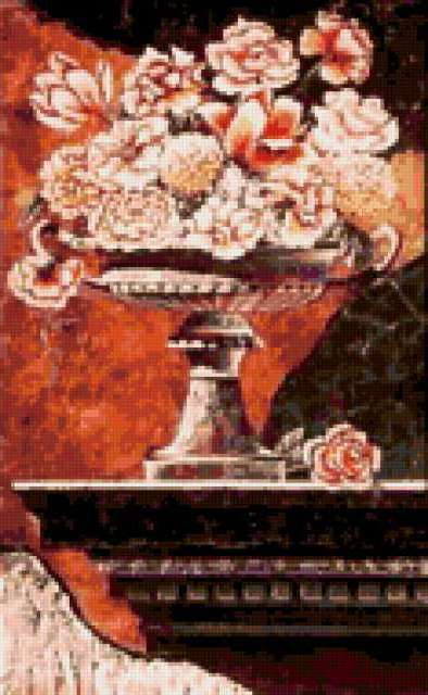 Флорентийская мозаика, цветы