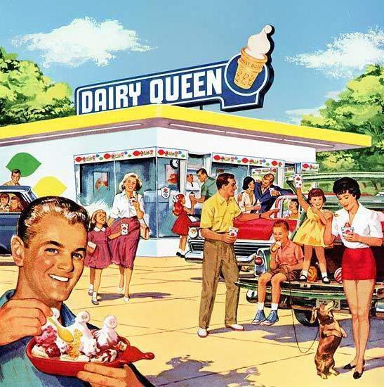 Мороженое в летний зной,