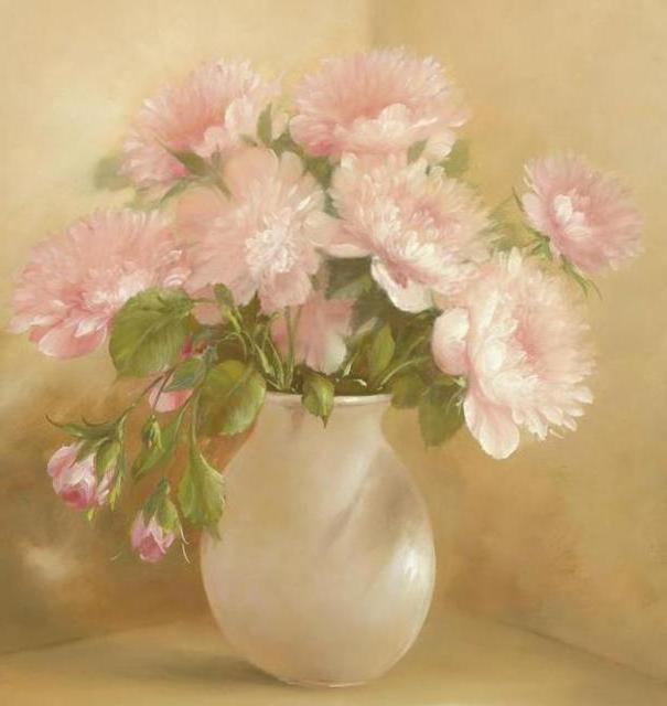 Розовые пионы, оригинал
