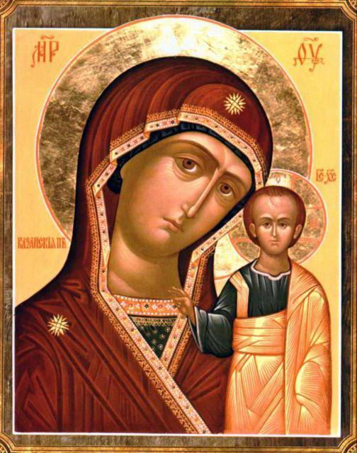 Икона Казанской Божией Матери,