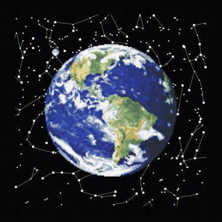 Земля и звезды, земля, космос