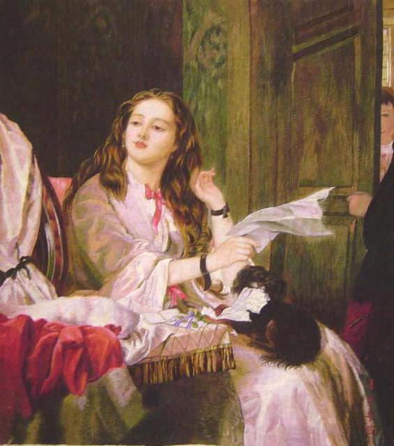 Чтение письма, картина